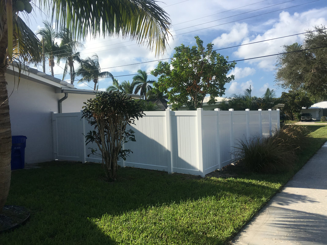 white pvc fencing that is in fort lauderdale fl